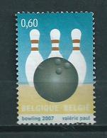 2007 Belgium Bowling Used/gebruikt/oblitere - België