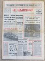 Journal Dauphiné Libéré Mardi 13 Février X° Jeux Olympiques D'hiver De Grenoble 1968 Killy Favre - Other