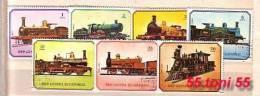 GUINEE EQUATORIALE TRAINS - Locomotive 7v.- Used - Equatorial Guinea