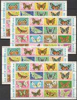 Y618 GUINEA ECUATORIAL FAUNA BUTTERFLIES MARIPOSAS !!! 4SH MNH - Schmetterlinge