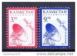 Kazakhstan 2003 Definitives. Intelsat. 2v** - Kazakhstan