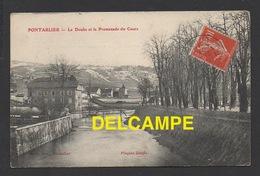 DD / 25 DOUBS / PONTARLIER / LE DOUBS ET LA PROMENADE DU COURS / CIRCULÉE EN 1907 - Pontarlier