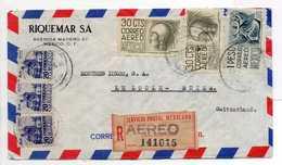 - Lettre Recommandée RIQUEMAR SA, MEXICO Pour LE LOCLE (Suisse) 23.10.1953 - A ETUDIER - - Mexico