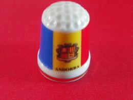 """Dé En Porcelaine """"Andorra"""" - Thimbles"""