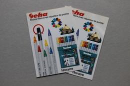 Publicité GEHA Stylos-fibre Avec Rajusteur De Pointe, Lot De 2 Exemplaires - Publicités