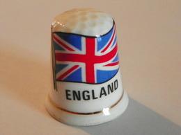 """Dé En Porcelaine """"England"""" - Dés à Coudre"""