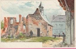 18 / 3  /  393  -  WATERLOO  -  LA  FERME  D' HOUGOUMONT   (signé F. Ranot - Waterloo