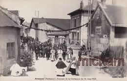 CPA  08  AVANCON - PHOTO - Souvenir De  La Ceremonie Du 16 Juin 1927  Tres Bon état - Frankreich