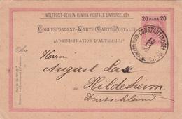 E.P. Österreich /  Autriche - 20 Para 20 - Cachet Constantinople 1892 - Levant Autrichien