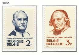 D- [150084] **/Mnh-[1214/15] Belgique 1962, Frère Alexis-Marie Gochet Et Chanoine Triest, Religion, SNC - Christianisme