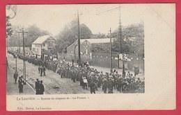 """La Louvière - Remise Du Drapeau De """" La Postale """"   -1908 ( Voir Verso ) - La Louvière"""
