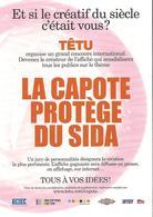 CPM - GRAND CONCOURS ORGANISE PAR TETU.COM - LA CAPOTE PROTEGE DU SIDA - Santé