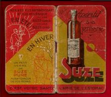 Pub Publicité Carnet Apéritif à La Gentiane Suze Calendrier 1937 - Photos Usine Maisons Alfort Pontarlier Toulouse - Calendars