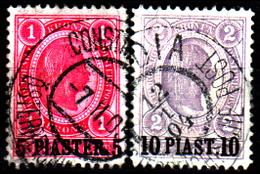 Levante-Austriaco-46 - Emissione Del 1900 (o) - Differenti Bollature - Senza Difetti Occulti. - Oriente Austriaco