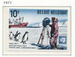 D- [150911] **/Mnh-[1589] Belgique 1971, Traité Sur L'Antartique (Pôle Sud), Bateau, Pinguoins, SNC - Traité Sur L'Antarctique