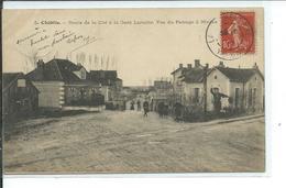 Chablis-Route De La Cité à La Gare Laroche-Vue Du Passage à Niveau - Chablis