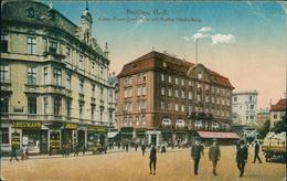 AK Beuten Bytom, Kaiser Franz-Josef-Platz Mit Kaffee Hindenburg, Um 1918 (9580) - Schlesien