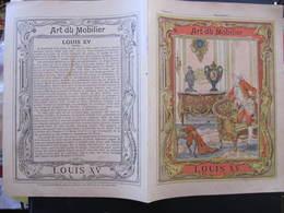 COUVERTURE CAHIER  - ART DU MOBILIER - LOUIS XV - Imp. Godchaux - Buvards, Protège-cahiers Illustrés