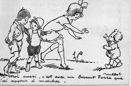 POULBOT Carte Publicitaire BISCUIT FOSSE  94  ARCUEIL - Poulbot, F.