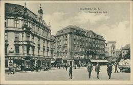 AK Beuten Bytom, Boulevard Mit Café, O 1914 (9584) - Schlesien