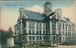 AK Beuten Bytom, Oberrealschule, Um 1910, Eckknick Oben Links, Papierabschürfung (9590) - Schlesien