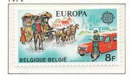 D- [151813] **/Mnh-[1930] Belgique 1979, EUROPA-CEPT, Histoire Postale, Facteur, Malle Poste, Factrice Et Camionette, SN - Kutschen