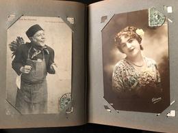 Album De 126 Cpa Cartes Fantaises Francaises La Plupart Circulées - Postcards