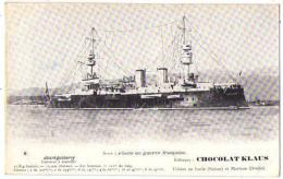 (Marine De Guerre) 164, Chocolat Klaus 08, Jauréguiberry, Cuirassé à Tourelles - Guerra