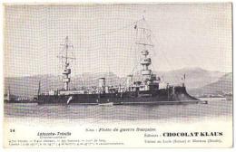 (Marine De Guerre) 167, Chocolat Klaus 14, Latouche-Tréville, Cuirassé à Tourelles - Guerra
