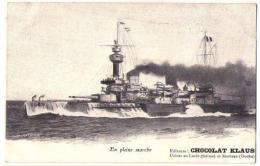 (Marine De Guerre) 173, Chocolat Klaus, En Pleine Marche, Dos Non Divisé - Guerra
