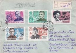 Soviet Registered Cover Posted From Tashkent 1963 Franked W/Military Stamps (G91-13) - 1923-1991 URSS