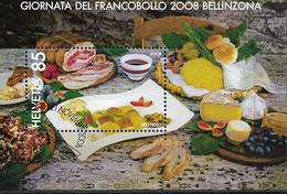 2008 Schweiz  Mi. Bl. 43  FD-used  Tag Der Briefmarke - Bellinzona. - Switzerland