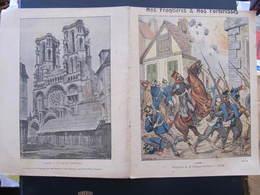 COUVERTURE CAHIER  - LAON - EXPLOSION DE LA CITADELLE 1870 - Coll. Geisler - Buvards, Protège-cahiers Illustrés