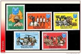 Rwanda 0438/42** Garde Nationale  MNH - Rwanda