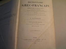 Dictionnaire - Grec / Français Par C Alexandre - 25è Edition - 1912 - Dictionaries