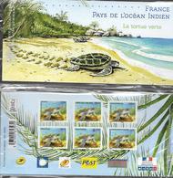 France 2014 - Yv N° P4903 ** - Emission Commune France - Pays De L'océabn Indien (sous Blister) - La Tortue Verte - Blocs Souvenir