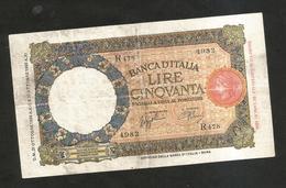 REGNO D' ITALIA - 50 Lire Lupetta ( FASCIO - Decr. 21 / 10 / 1938 - Firme: Azzolini / Urbini) - [ 1] …-1946 : Kingdom