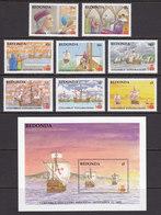 REDONDA 1988, 500 Years Columbus' Explorations MNH, Complete Set Incl. Souv.block - Antigua En Barbuda (1981-...)