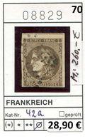 Frankreich - France - Francia -  Michel 42 A - Oo Oblit. Used Gebruikt - Mi. 260,00 Euro - 1863-1870 Napoléon III. Laure