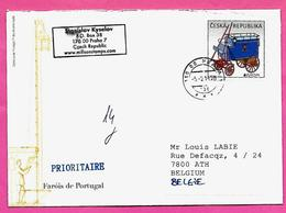 3030 - TCHEQUIE  -- Courrier Tchéquie - Belgique - Tchéquie