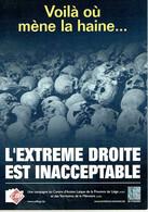 Crânes - Voilà Où Mène La Haine... L'Extrême Droite Est Inacceptable - Partis Politiques & élections