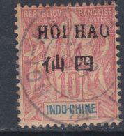 Hoï-Hao N° 20 O Timbre D'Indochine Surchargé En Noir, 10 C. Rouge, Oblitération Moyenne Sinon TB - Usati