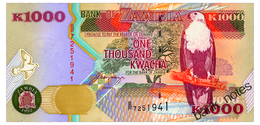 ZAMBIA 1000 KWACHA 1992 Pick 40a Unc - Sambia