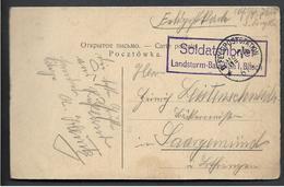SKIERNIEWICE Pologne Occupation Allemande Griffe SOLDATENBRIEF Landsturm Bataillon I. BITSCH + CAD Feldpoststation N° 74 - 1919-1939 République