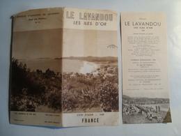 LE LAVANDOU. LES ÎLES D'OR. CÔTE D'AZUR / VAR - FRANCE, 1955. - Toeristische Brochures