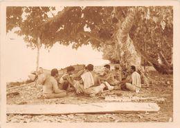 WALLIS-et-FUTUNA  - Cliché De Wallisiens Creusant Une Pirogue à WALLIS   - Voir Description - Wallis En Futuna