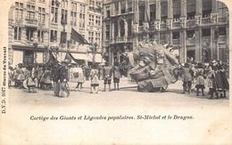 Bruxelles Brussel   Oeuvre Du Travail  Cortège Des Géants Populaires.  St-Michel Et Le Dragon          I 3049 - Belgium