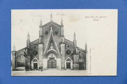 Cartolina Chieri - Facciata Del Duomo - 1905 Ca. - Italia