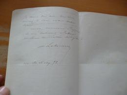 LAs Autographe Gouvernement Général Algérie Travaux Civils 1863 Nomination - Manuscrits