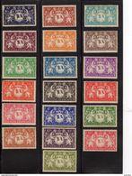 Guyane Française : Année 1945 Série De Londres.Lot De 19 Valeurs N°182* à200* - France (ex-colonies & Protectorats)